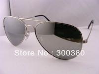 2013 Designer Sunglasses Silvery Mirror 3025 Sunglasses Mens Womens Glasses 58mm