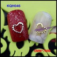 wholesale 2013 new nail beauty jewelry 3d metal nail art decoration 200pcs/pack 6mm*7mm KQH046 free shipping