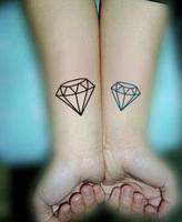 Waterproof tattoo sticker diamond 7 pattern