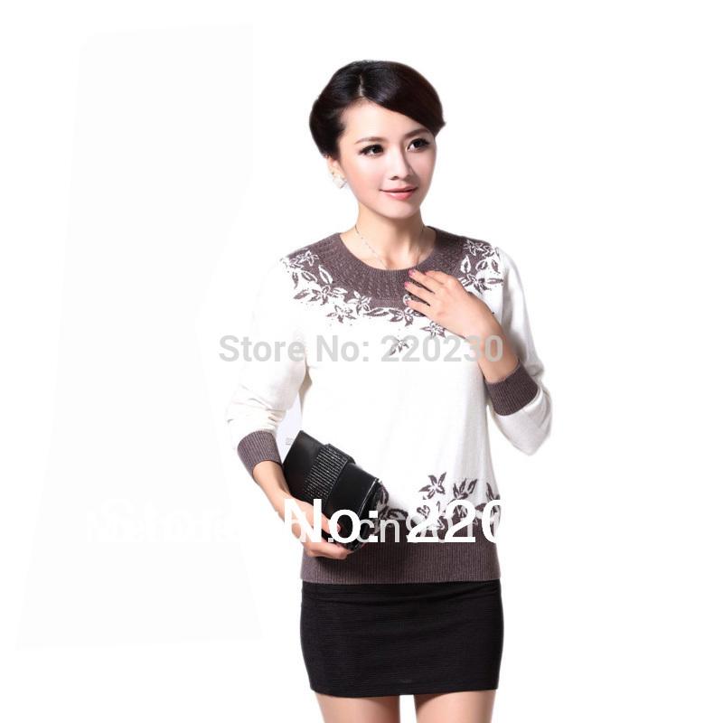 Spedizione gratuita autunno/inverno nuovo 2014 caldo vendita moda donne maglione cashmere pullover a maglia maglione da donna w-152
