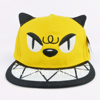 Hiphop cartoon cap devil horn cat for men and women summer baseball cap for lovers in 2013 the novelty hat free shipping