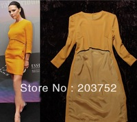 New In Autumn Celebrity Fashion Three Quarter Sleeve Slim Elegant Dress High-end Boutique Dresses