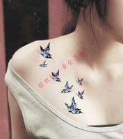 38 waterproof tattoo stickers fashion blue butterfly Women hm256