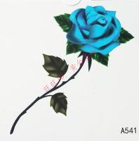 38 waterproof tattoo stickers blue rose tattoo paper a541