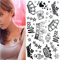 wonderful waterproof cartoon tattoo stickers five-pointed star wall stickers hm460