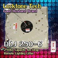Lighting Hoist Remote-controlled Lighting Lifter Chandelier Lift DDJ250-6 (250kg Capability 6m drop 110--240V) Free Shipping