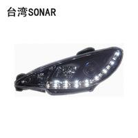 peugeot 206 xenon headlights lens led original bit headlight dacryops emblly