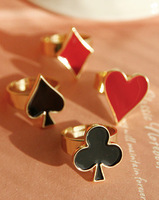 HARAJUKU murua hold'em spades love metal j001 female ring