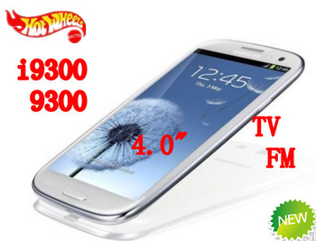 new mobile phone  4.0 inch i9300 9300 TV touch screen  dual sim card with gift