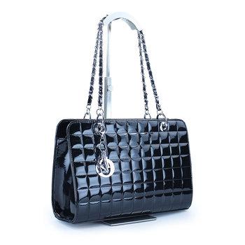 Fashion design ladies' patent pu leather bags, women casual handbag , hot sale vintage shoulder bags, tote bag 6 colors