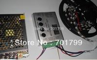 4m DC5V 60pixels ws2811 built-in led digital strip+RF controller+5V/60W power supply;black pcb,non-waterproof