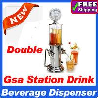 Free shipping double Beer Machine liquid Shots Gun Gas station dispenser beverage Machine Mini water dispenser Beer Machine