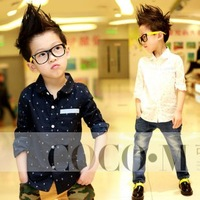 2013 spring fashion print anchor boys t  shirt childrens blouse