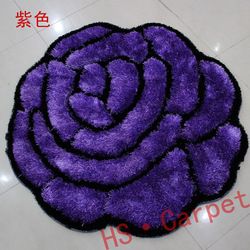 round carpet rose shaped rugs, carpet roses, 3d flower rugs coffee table mat blue area rugs computer cushion mat diameter 1.2m(China (Mainland))