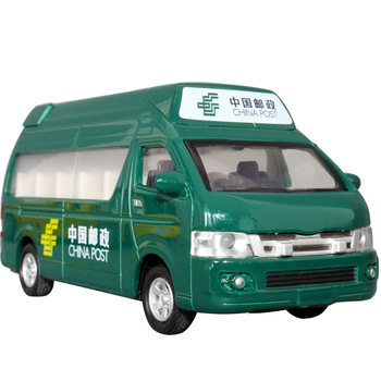 free shipping Mail car express delivery car school bus microbiotic acoustooptical WARRIOR alloy car model toy car
