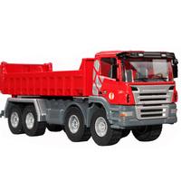 free shipping Huayi the whole alloy dump truck big truck dump truck engineering car toy car