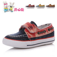 Girl's boy's canvas shoes high qualtiy  children shoes boys shoes female spring cotton-made velcro shoes c3151