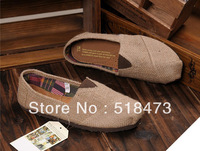 Free shipping!Natural linen canvas shoes for women's shoes