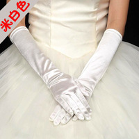 The bride wedding gloves plain paintless plolicy s38 beige etiquette gloves