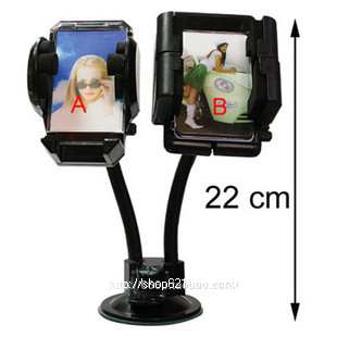 Car gps mobile phone double mount car lovers two-in-one mount 8cm big suction cup
