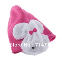 2012 NEW Rabbit shaped Lovely Boy girl Hats,winter baby hat,Knitted caps children Keep warm hat 4 colors  Hot Selling Popular