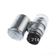 Fresco 60X Zoom LED Microscópio Micro Lens Nova Prata venda quente(China (Mainland))
