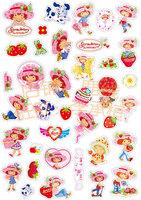 Strawberries girl*Diy meterail/iron-on/ heat press/heat transfer print patch *drop shipping *[LX]