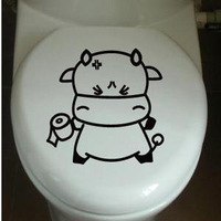 Toilet stickers wall stickers waterproof home decoration