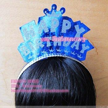 Props birthday party supplies headband hair bands laser gold powder