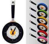 Hot sale creative wall clock fried eggs pan shaped clock Stylish Fried Eggs Pot ZF020