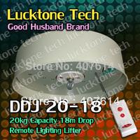 Lighting Hoist Remote-controlled Lighting Lifter Chandelier Lift DDJ20-18 (20kg Capability 18m drop 110--240V) Free Shipping