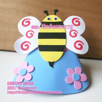 Kindergarten toy animal style hair accessory animal hat child hat little bees hair accessory