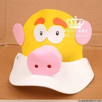 Kindergarten toy animal style hair accessory animal hat child hat