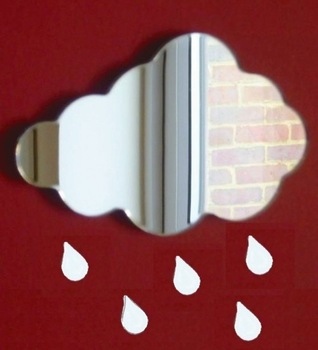 Cloud Mirrors & Raindrops/home decoration/28cm x 22cm Cloud & 5 raindrops
