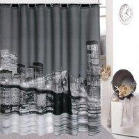 High Quality City Night View Bathing Waterproof Bathroom Fabric Shower Curtain ZF074