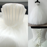 Free shipping Refine 2013 ostrich wool tube top beaded fluffy cheap wedding dresses with straps cheap satin dress