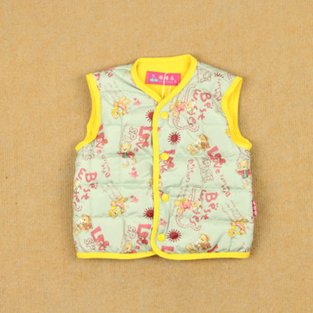 Winter newborn infant child male female child thermal clip cotton liner vest baby silk floss vest