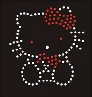 Clothes accessories rhinestone diy rhinestones hot map premium korea drill kitty cat finished products hot map kt2081