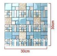 Blue crystal y glass mosaic stone 8837 beijingqiang tile YM-24