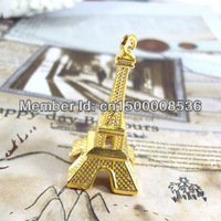 Free shipping-10pcs/lot fashion diy accessory golden Eiffel Tower,Jewelry pendant,jewelry fittings