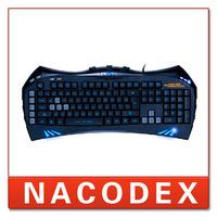 SUNT GK35 9 Keys USB Wired Pro. Gaming Keyboard for PC Laptop Blue Backlight Keyboard for PC Game CS CF Original