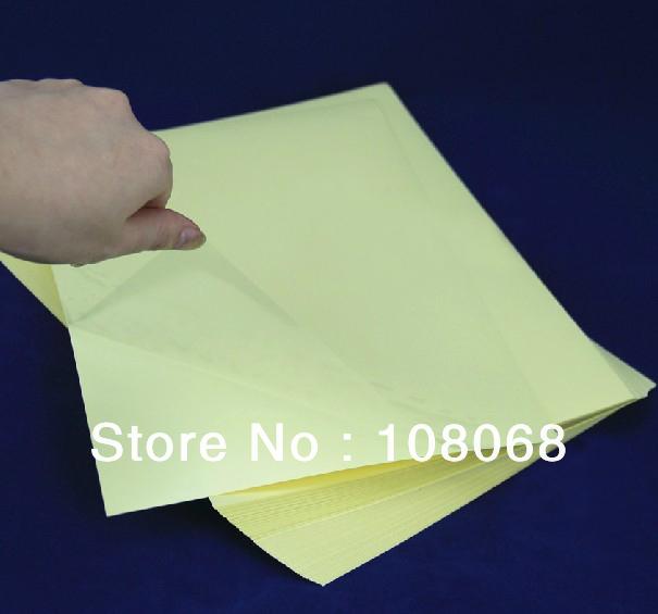 transparent sticker paper
