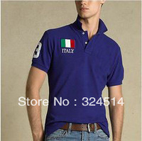 Free Shipping classical Polo Shirt for men,country flag polo shirt 100% cotton top quality size S-XXL