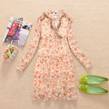 women's spring print  long-sleeve dress,free shipping