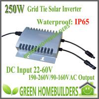 factory wholesale,  IP 65 Waterproof,MPPT function , 250W Solar Grid Tie Inverter