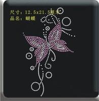 Butterfly Iron-on/Heat Transfer Hotfix Rhinestones Motifs Wholesale Drop Shipping No 789680262