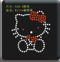 Clothes accessories rhinestones hot map cartoon animal kitty cat pattern diy rhinestone heat press customize
