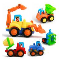 FREE SHIPPING WHOLESALES retails(4pcs/set) Department of music 326 toy car inertia car engineering car bulldozers truck set