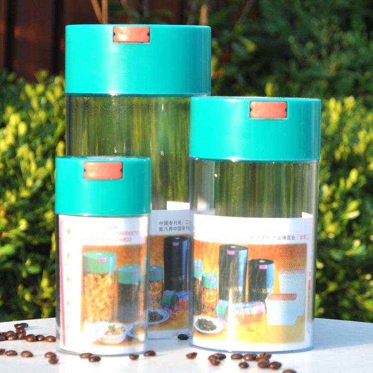 Grãos de café vácuo da vasilha Dearie ling tanque chá caddy latas perto Pequeno 1000ml(China (Mainland))