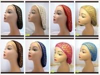 Soft Rayon Snood hat Hair Net Crocheted Hair Net cap mix colors